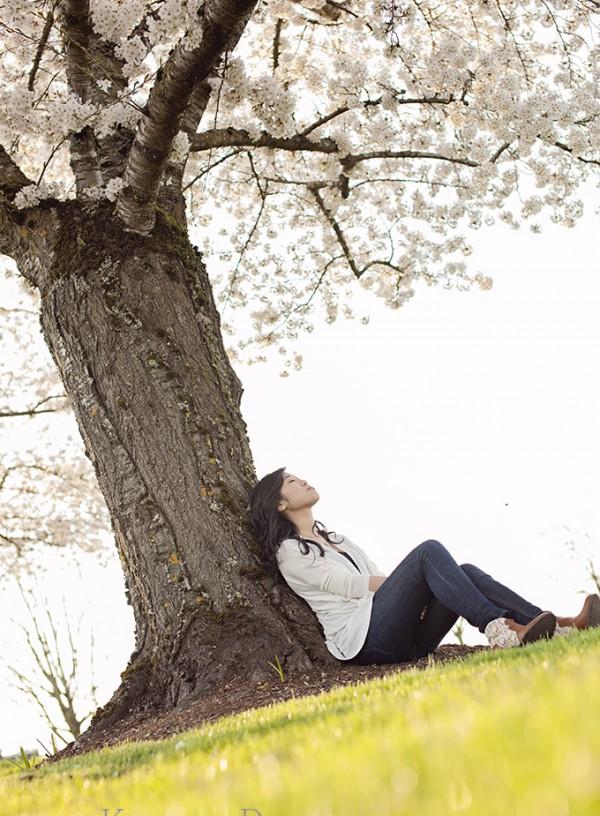 Cherry blossoms senior Portrait