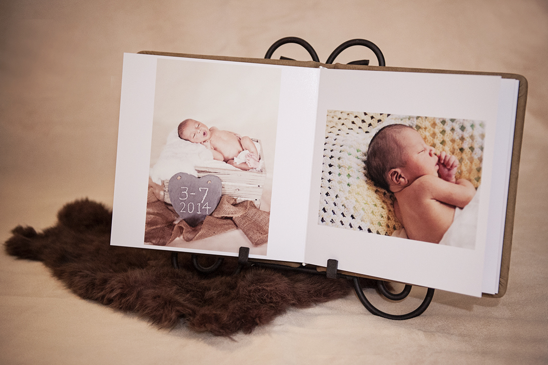 Happy 9 day old newborn baby boy - Portland baby photography.