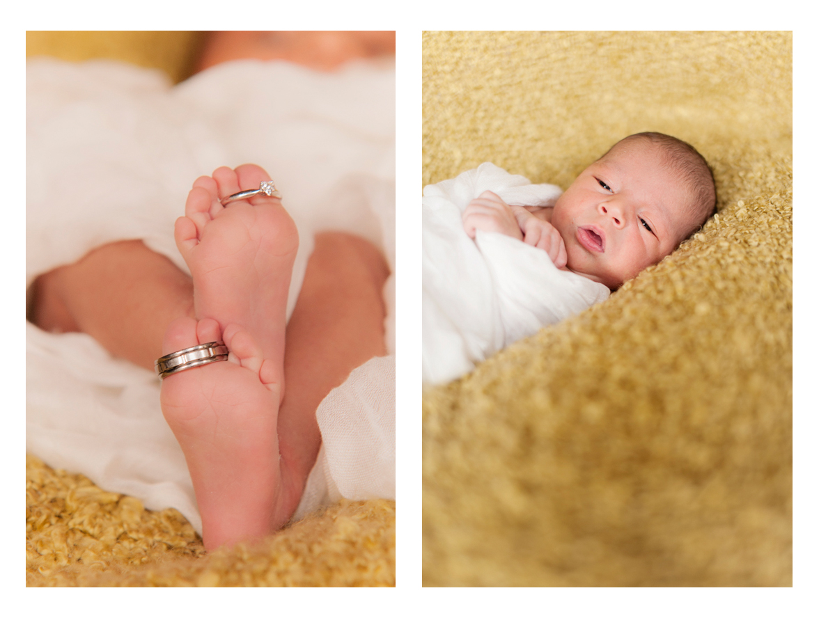 Happy 9 day old baby boy - Portland baby photography.