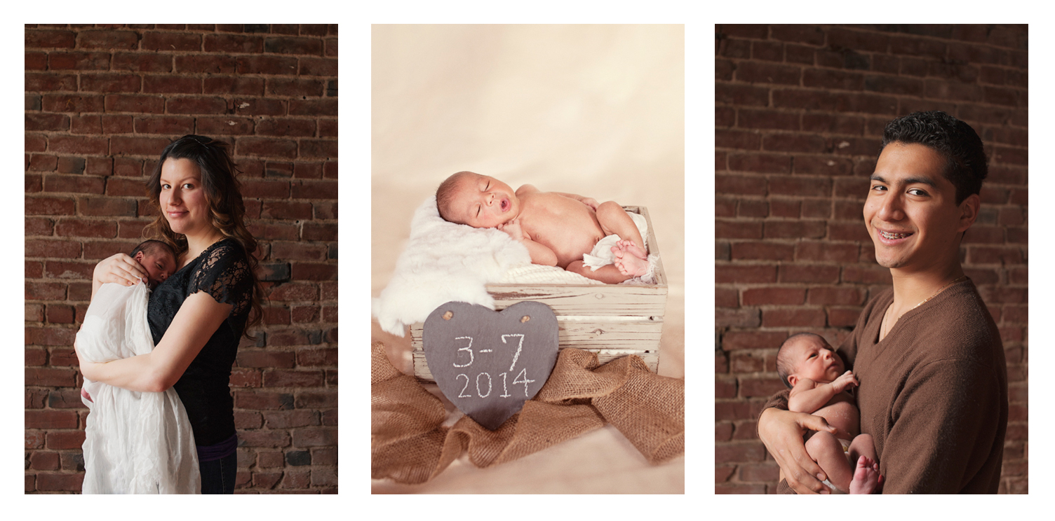 Happy 9 day old baby boy - Portland newborn photographer.