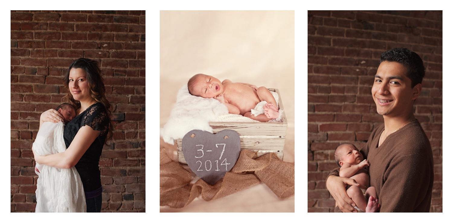 Happy 9 day old baby boy - Portland newborn photographer.